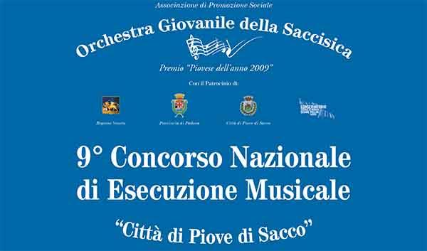 """I vincitori del 9° Concorso Nazionale di Esecuzione Musicale """"Città di Piove di Sacco"""""""