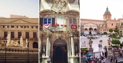 Palermo. Palazzi Nobiliari lungo il Cassaro – Passeggiata serale