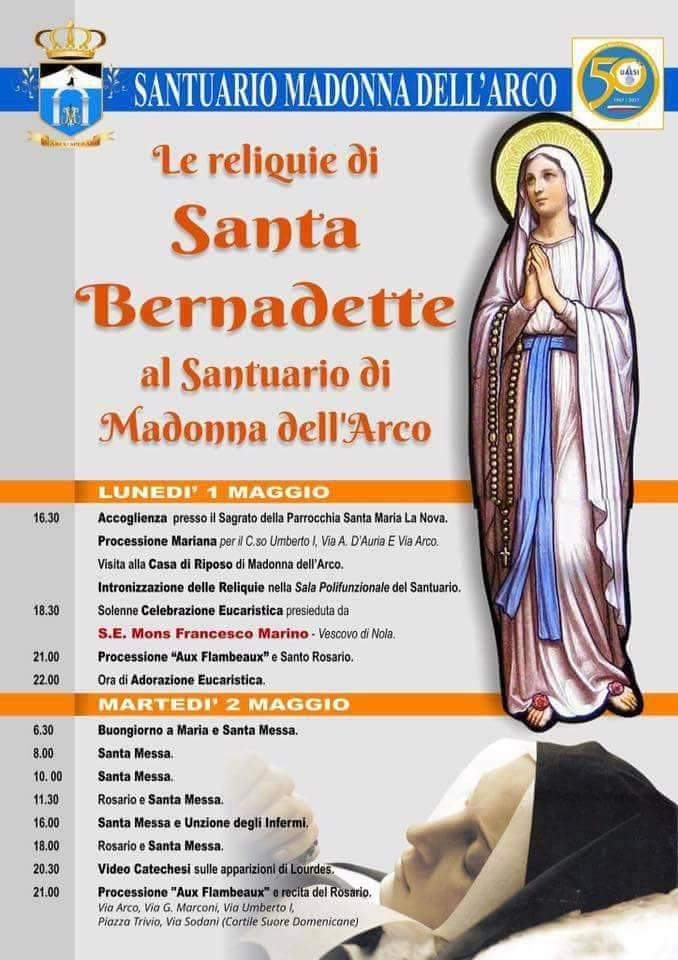Programma reliquie presso Madonna dell'arco