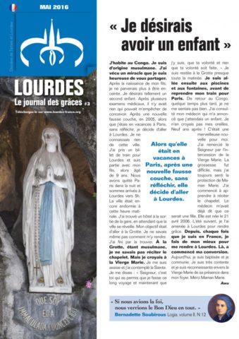 LOURDES le journal des grâces (N°3 – mai 2016)