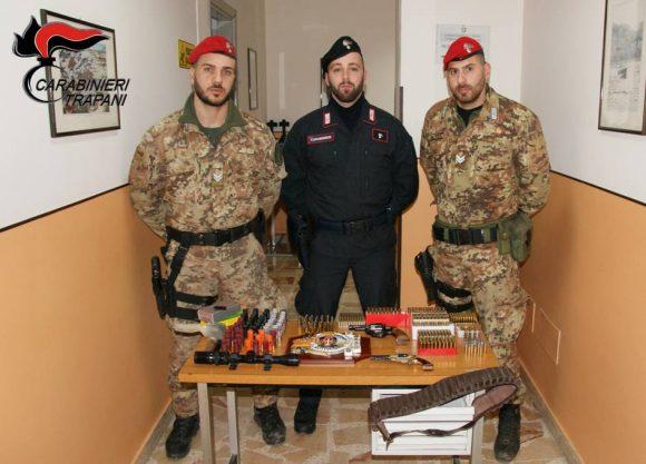 Castelvetrano: arrestato 77enne per illecita detenzioni di armi