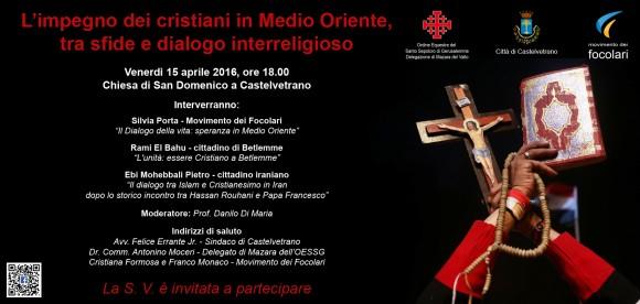 """""""L'impegno dei cristiani in Medio Oriente"""" – convegno presso la Chiesa di San Domenico"""