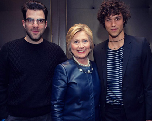Zachary Quinto sostiene Hillary Clinton