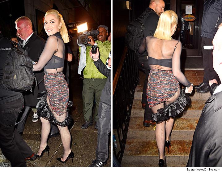 """Gwen Stefani: questa sì che è una gonna """"corta""""!"""