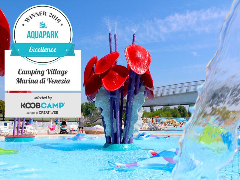 Camping Village Marina di Venezia vince il premio per il miglior camping con Aquapark