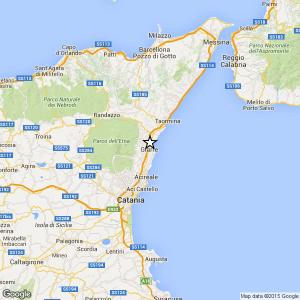 Sicilia, terremoto Ml 2.5 il 26-04-2016 ore 23:56 in provincia Catania
