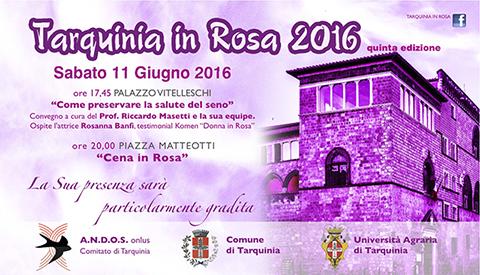 Tarquinia in Rosa: la manifestazione dell'Andos per promuovere la sensibilizzazione e la prevenzione del tumore al seno