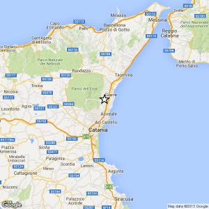 Sicilia, terremoto Ml 2.4 il 27-04-2016 ore 17:49 in provincia Catania