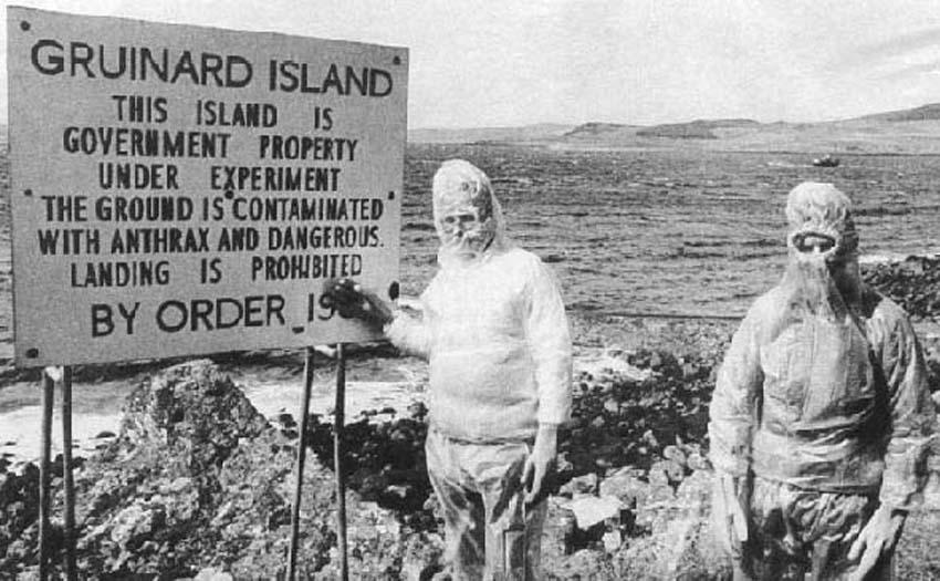 24 aprile 1990: Viene dichiarata libera dall'antrace l'isola Gruinard
