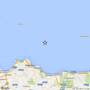 Sicilia, terremoto Ml 2.4 il 16-04-2016 ore 19:51 Tirreno Meridionale