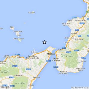 Sicilia, terremoto Ml 2.0 il 16-04-2016 ore 10:07 Costa Siciliana nord orientale Messina