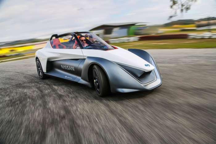 La Nissan BladeGlider presente all'edizione 2017 del Festival della Velocità di Goodwood
