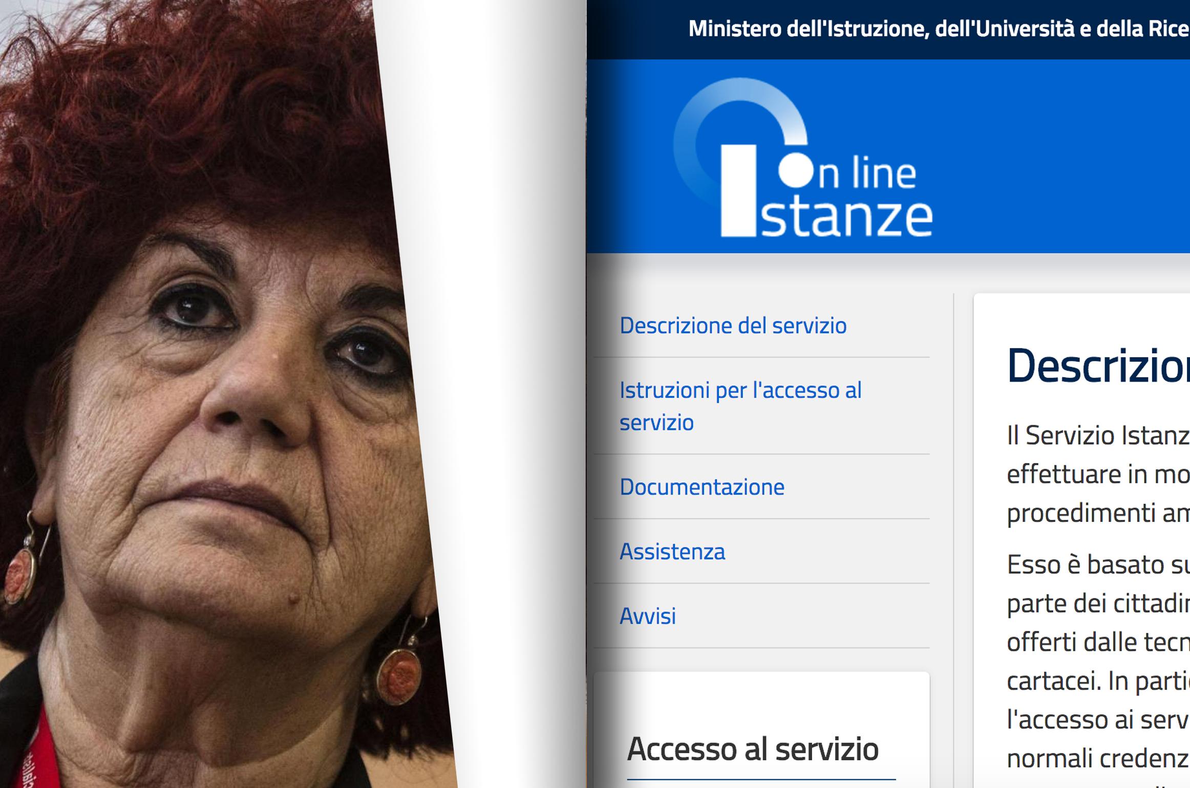 """'Crash' su Istanze Online: Valeria Fedeli, """"Aumenteremo le risorse"""""""