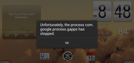 Come risolvere process com.google.process.gapps has stopped