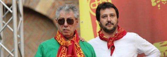Il neonazista Salvini si libera di Bossi ed indossa la camicia bruna.