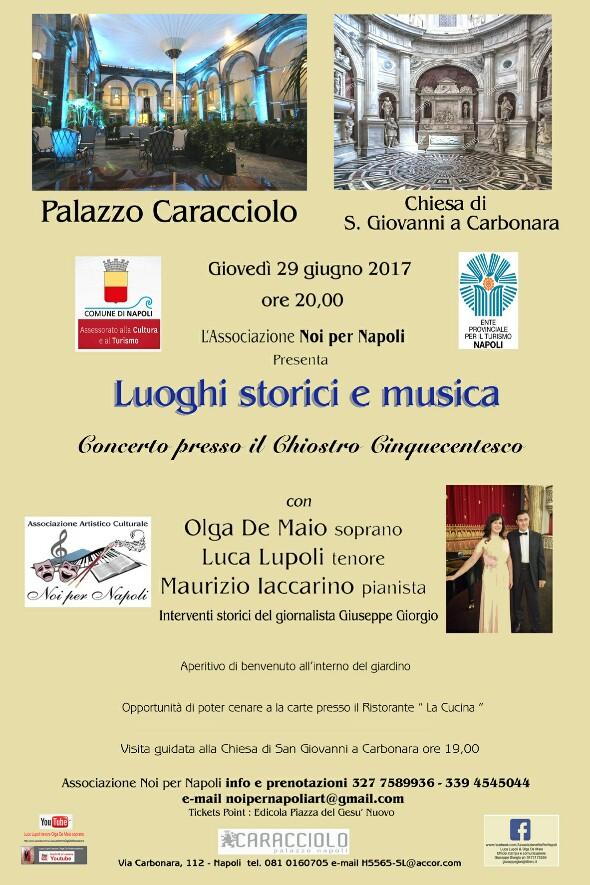 Luoghi Storici e Musica: Palazzo Caracciolo Chiostro Cinquecentesco