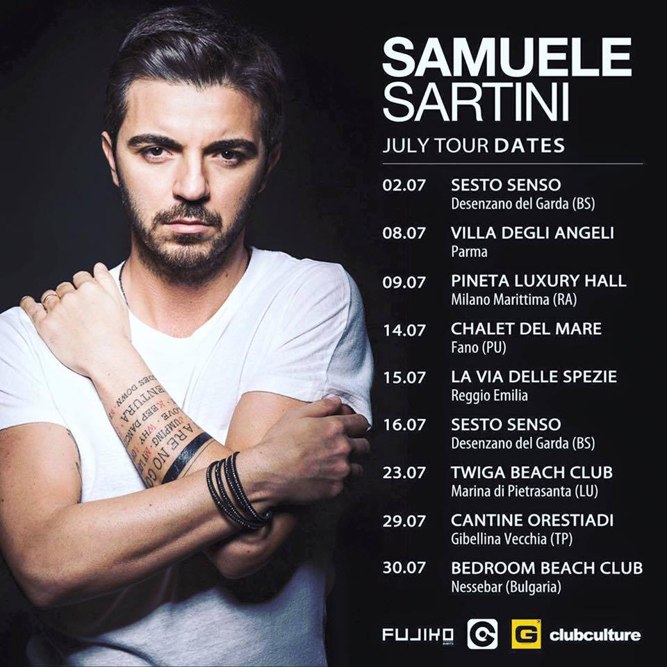 Samuele Sartini Summer Tour