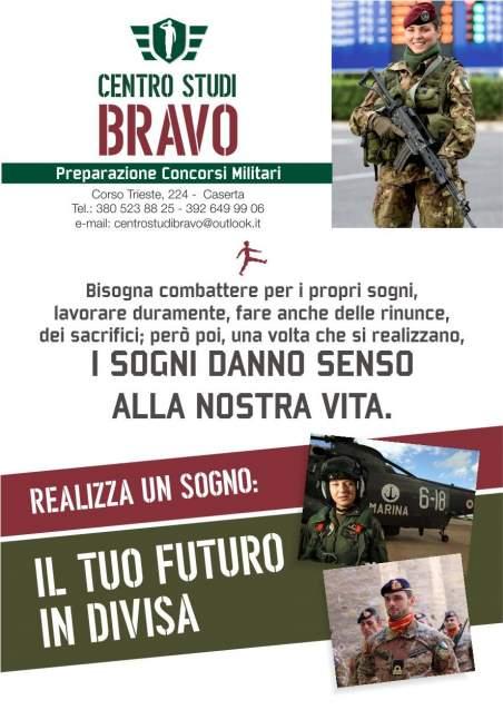 Per neodiplomati nuove opportunità nei concorsi militari a Caserta (Esercito, Marina, Aeronautica, Carabinieri, Polizia, Guardia di Finanza)