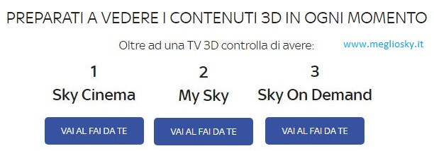 Sky 3D chiude, resta il cinema 3D on demand per gli abbonati Sky Cinema
