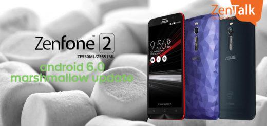Asus ZenFone 2 ottiene l'aggiornamento Android Marshmallow