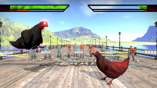 Chikken, divertente custom mod in stile Tekken con polli combattenti