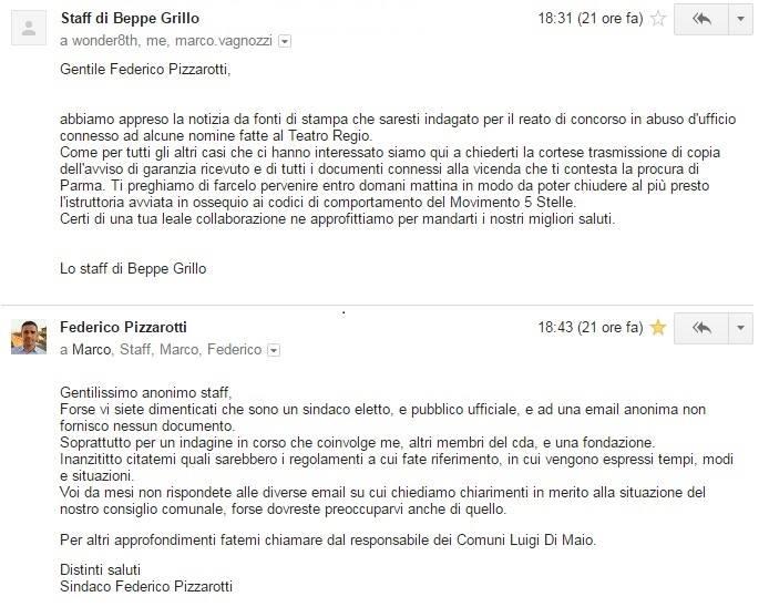 Federico Pizzarotti è stato sospeso dal Movimento 5 Stelle con un post sul blog di Grillo