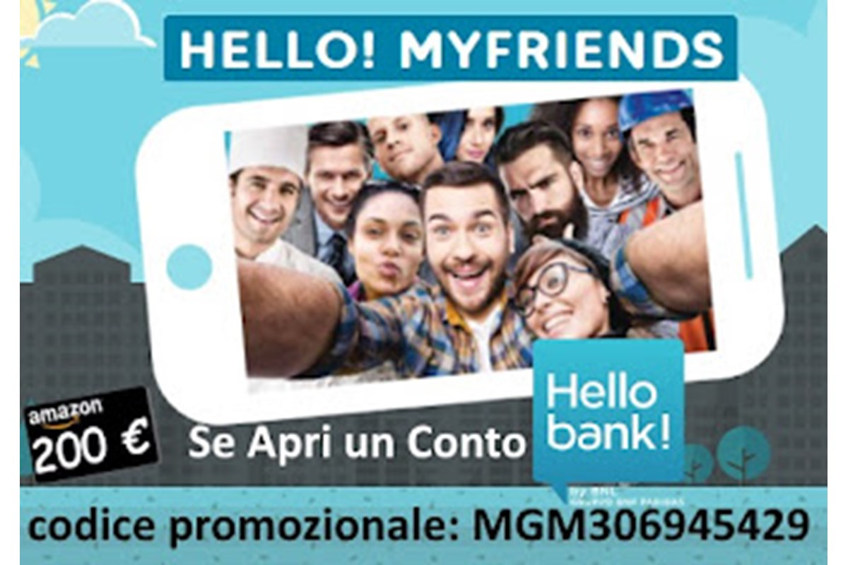 Hello Bank! + Presenta un Amico = Hello! MyFriends